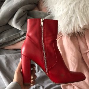 High red boots/heels